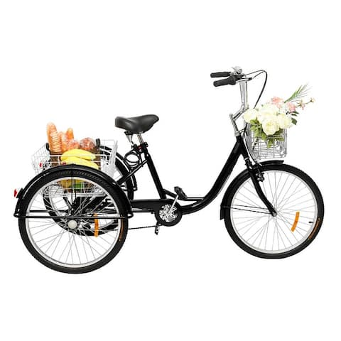 "Adult Tricycle 26"" Wheels, 7 Speed Men's Women's Bike"