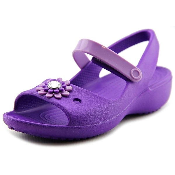 5074afe360f38 Shop Crocs Keeley Mini Wedge Youth Open-Toe Synthetic Purple Mary ...