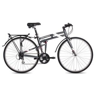 "Montague Urban 21"" Smoke Silver 21 Speed Folding Multi-Use Bike"