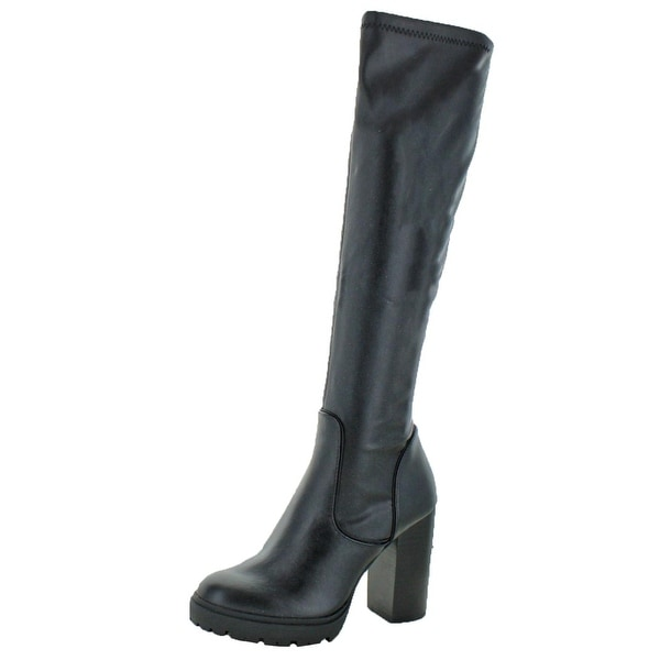 540b383cc97 Shop Steve Madden Womens Lately Knee-High Boots Block Heel Platform ...