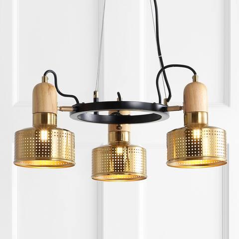 "Gallery 22"" 3-Light Spotlight Metal LED Pendant, by JONATHAN Y"
