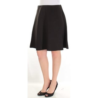 Womens Black Above The Knee Circle Wear To Work Skirt Petites Size M