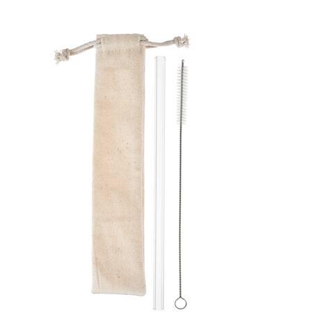 """Clear Glass Straw Set by Twine - 9.5"""" x 2"""""""