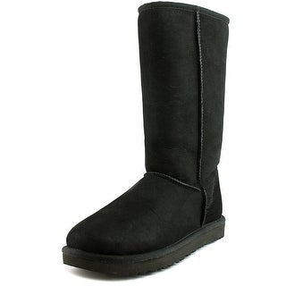 Ugg Australia Classic Tall ll Women Round Toe Suede Black Winter Boot