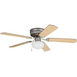 Buy craftmade ceiling fans online at overstock our best craftmade cc52 celeste deluxe 52 5 blade hugger ceiling fan blades and light kit aloadofball
