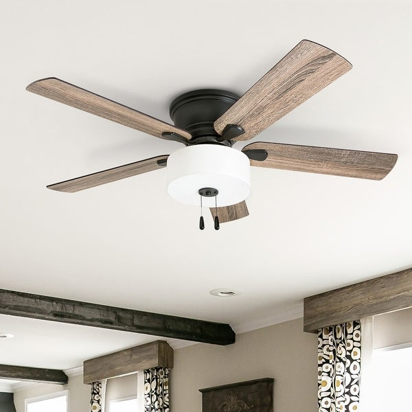 The Gray Barn Rousham 52-inch Coastal Indoor LED Ceiling Fan with Pull Chains 5 Reversible Blades - 52. Opens flyout.