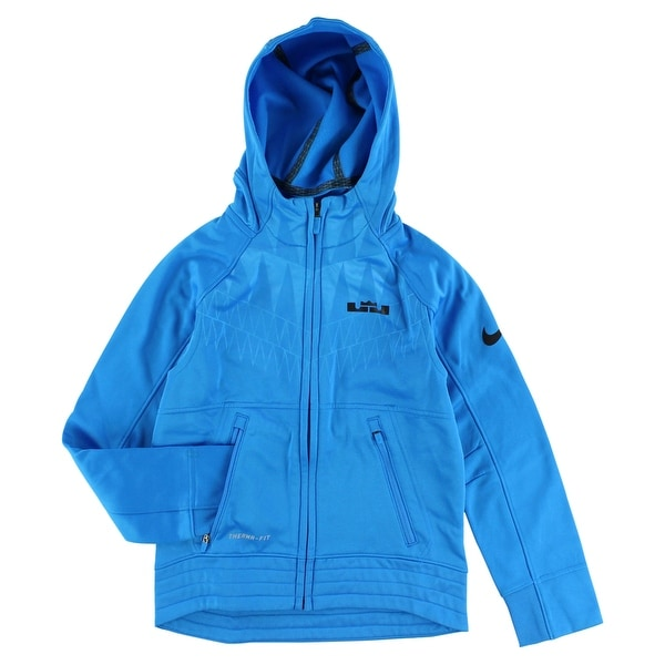 873a869beb34 Shop Nike Boys LeBron Ultimate Hyper Elite Basketball Hoodie Blue - Blue  Black - S - Free Shipping On Orders Over  45 - Overstock - 22693868
