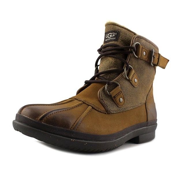 Ugg Australia Cecile Women Round Toe Leather Brown Winter Boot