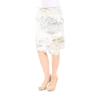 KAREN KANE $88 Womens New 1067 Beige Below The Knee Sheath Casual Skirt L B+B