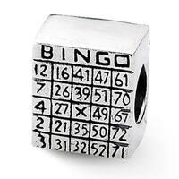 Sterling Silver Reflections Bingo Card Bead (4mm Diameter Hole)