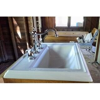 Victorian Chrome Widespread Bathroom Faucet
