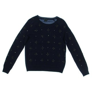 Private Label Womens Cashmere Embellished Pullover Sweater - L