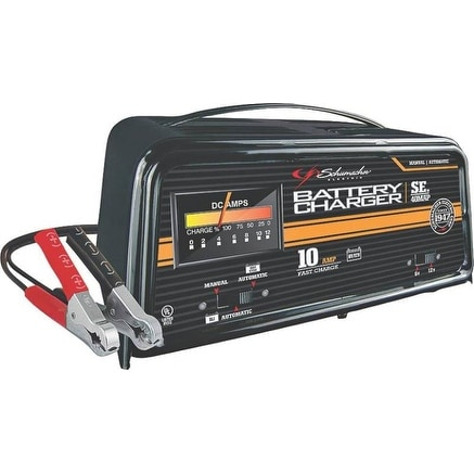 Schumacher SE40MAP Automatic/Manual Battery Charger, 6/12V, 10 Amp