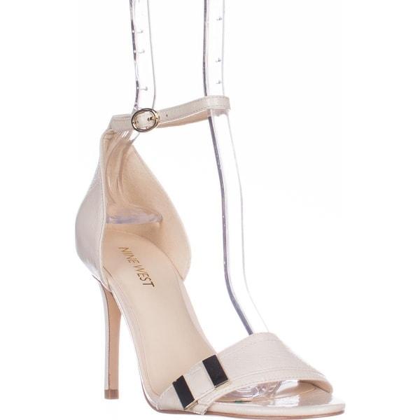 Nine West Matteo Ankle Strap Dress Sandals, Off White