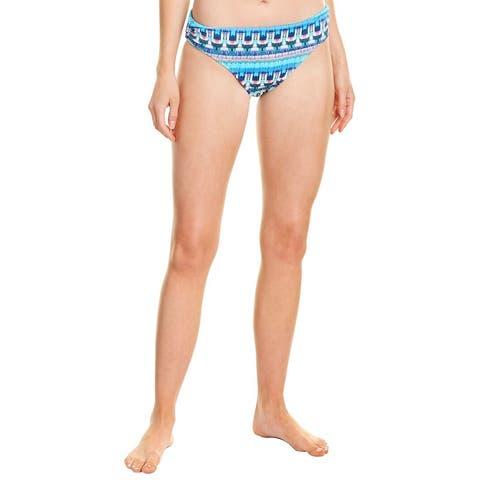 La Blanca Global Jive Shirred Band Bikini Bottom