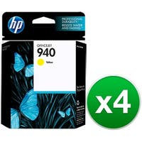 HP 940 Yellow Original Ink Cartridge (C4905AN) (4-Pack)