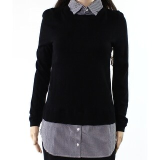 Vertical Designs Womens Small Pullover Layered Sweater