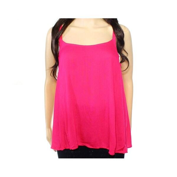 e59f01fbf Shop Elodie NEW Pink Womens Size Medium M Solid Ruffle Trim Swing ...