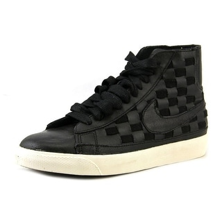 Nike Wmns Blazer Mid Woven Round Toe Leather Sneakers