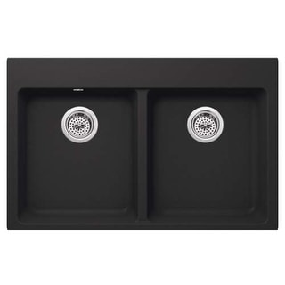 "Miseno MGR33225050 Carolina 33"" Double Basin Undermount Granite Composite Kitche"