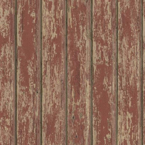 Brewster FFR66103 Red Weathered Clapboards Wallpaper