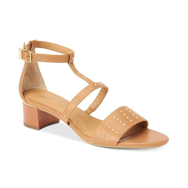 Calvin Klein Womens Divina Open Toe Ankle Strap D-orsay Pumps