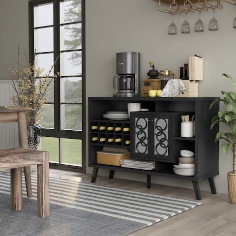 Furniture of America Nen Mid-century Brown 47-inch Buffet Server