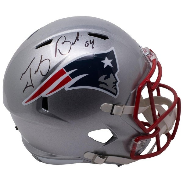 33fa6dbf9 Shop Tedy Bruschi Signed Full Size New England Patriots Replica Speed  Helmet JSA - Free Shipping Today - Overstock.com - 25678051