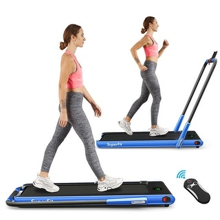 SuperFit 2.25HP 2 in 1 Foldable Under Desk Treadmill Remote Control
