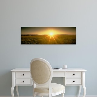 Easy Art Prints Panoramic Images's 'Sunset Solano Co CA USA' Premium Canvas Art