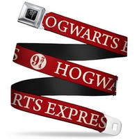 Harry Potter Logo Full Color Black White Hogwarts Express 9 Red White Seatbelt Belt