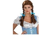 Wizard Of Oz Deluxe Dorothy Costume Wig - Brown
