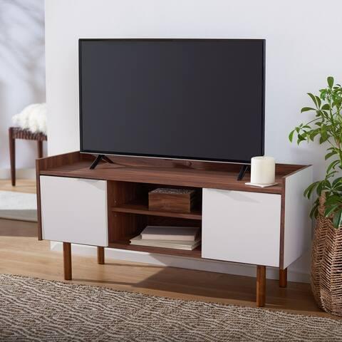 """Safavieh Diara Walnut 47-inch Storage Media TV Stand - 46.5"""" W x 15.7"""" L x 21.9"""" H"""