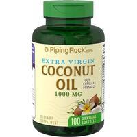 Piping Rock Coconut Oil Extra Virgin 1000mg (100 Softgels)