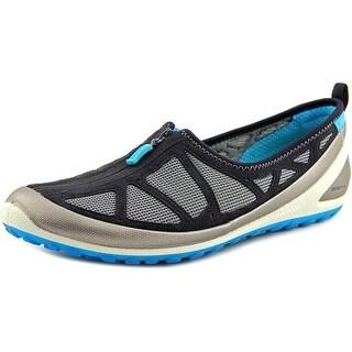 Ecco Biom Lite 1.3 Zip Round Toe Leather Loafer