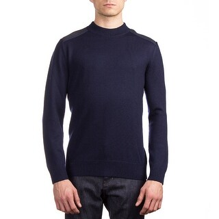 Moncler Men's Wool Crewneck Sweater Blue