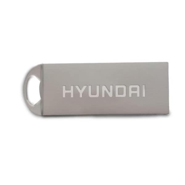 Hyundai Technology Bravo USB 2.0 Flash Drive 16GB Metal Keychain