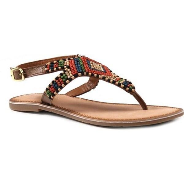 1ae35fca6ba783 Shop Diba True Women s Red Row Thong Sandal Tan Leather - On Sale ...