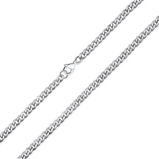 4mm Cuban Curb Gold Plated Stainless Steel Link Chains Necklace 20in