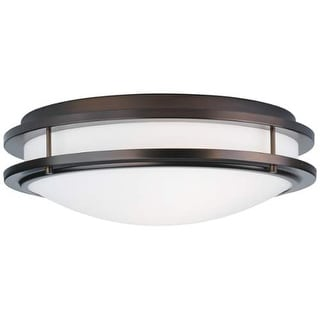 "Forecast Lighting F245770U 2 Light 18"" Wide Flush Mount Ceiling Fixture from the Cambridge Collection"