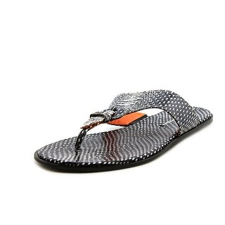 Via Spiga Cale Thong Sandals - Light Cream/Black