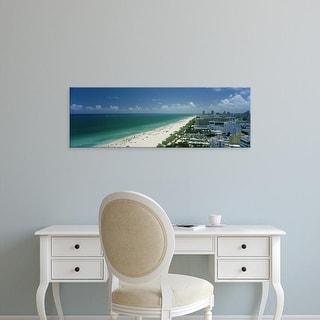 Easy Art Prints Panoramic Images's 'City at the beachfront, South Beach, Miami Beach, Florida, USA' Premium Canvas Art