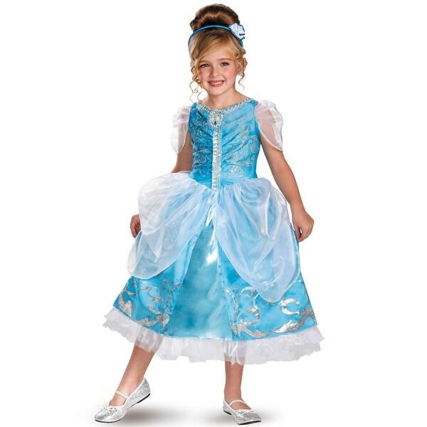 Disguise Disney Princess Cinderella Sparkle Deluxe Child Costume - Blue