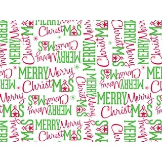 "Pack Of 120, Merry Christmas Manger Recycled Christmas Printed Tissue Paper 20"" x 30"" Sheets Half Ream"