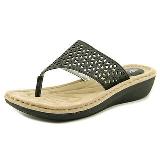 White Mountain Caviar Open Toe Synthetic Thong Sandal