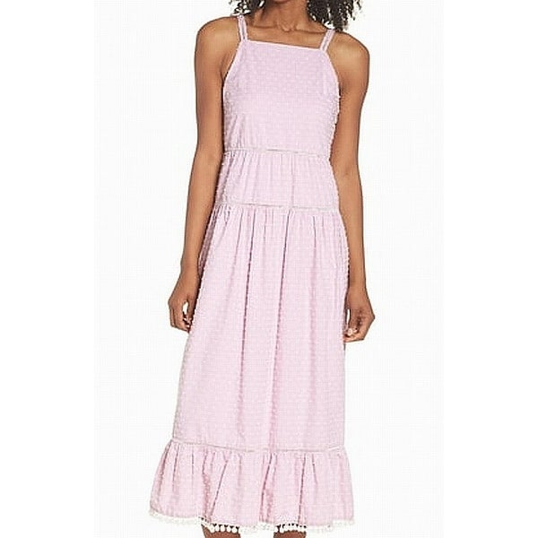Maggy London Pink Womens 16 Ruffle Trim Dot Texture Sheath Dress