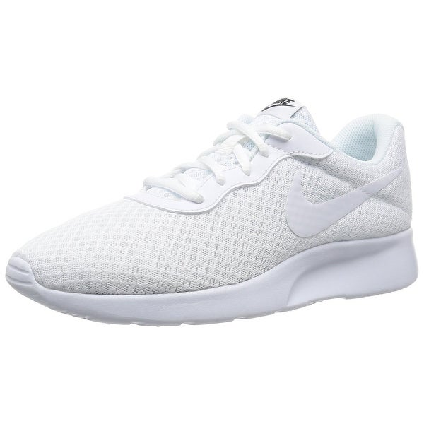 Nike Mens Tanjun Athletic Sneaker White White-Black 812654-110 13 - white 2e6e8a66d9b