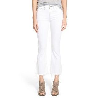 Rag & Bone Bright White Crop Flare Jeans