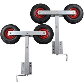 vidaXL Boat Trailer Double Wheel Bow Support Set of 2 2' - 3'