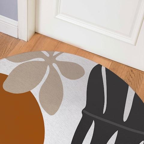 SHERE ORANGE Indoor Floor Mat By Kavka Designs